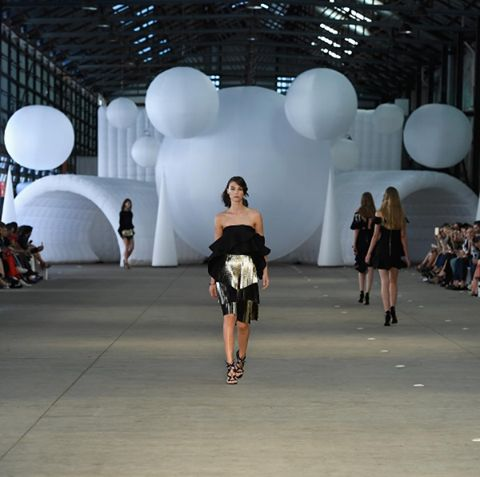 Great image of some of our inflatable lights and structures at the Mercedes-Benz Fashion Week. Installed by the fantastic team at Bedouin Freeform Tents