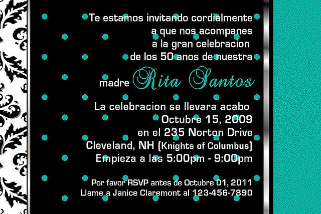 How to write a party invitation in spanish