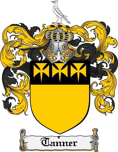 2e12cc96eb1 Tanner Coat of Arms Tanner Family Crest Instant Download - for ... | The  Carson Home Life | Family crest tattoo, Family crest, Crest tattoo