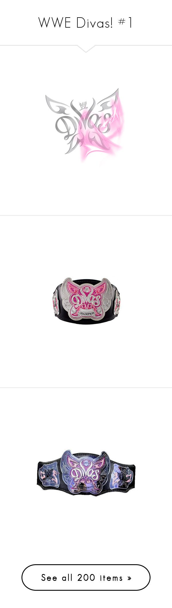 """WWE Divas! #1"" by elizabeth-stewart52 ❤ liked on Polyvore featuring wwe, shoes, wrestling, divas, jewelry, accessories, belts, wwe belts, rings and star ring"
