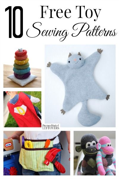 10 free toy sewing patterns for kids