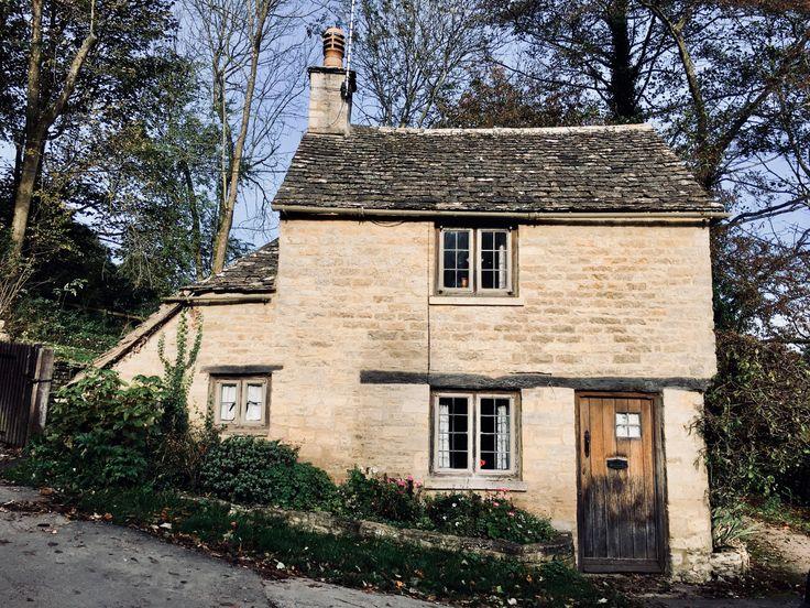 Two storey cottage opposite Arlington Row, Bibury, Gloucestershire.
