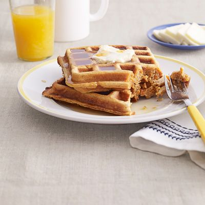 Linda Owens Surfus, the Country Living reader who created this recipe, recommends grating orange into the batter for extra zest. Recipe: Sweet-Potato Waffles   - Delish.com