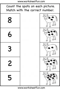 counting worksheet- count the spots