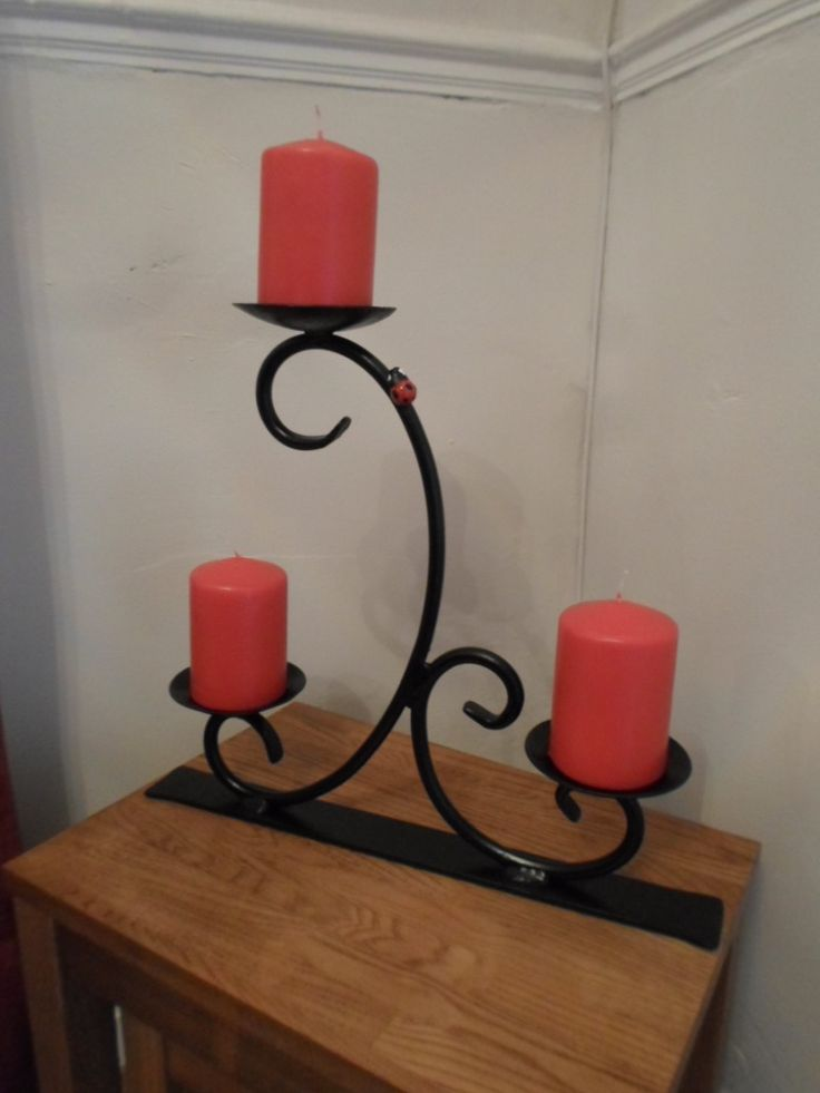 Scrolled Candle Holder Available @ ckmetalcraft.co.uk                                                                                                                                                                                 Más