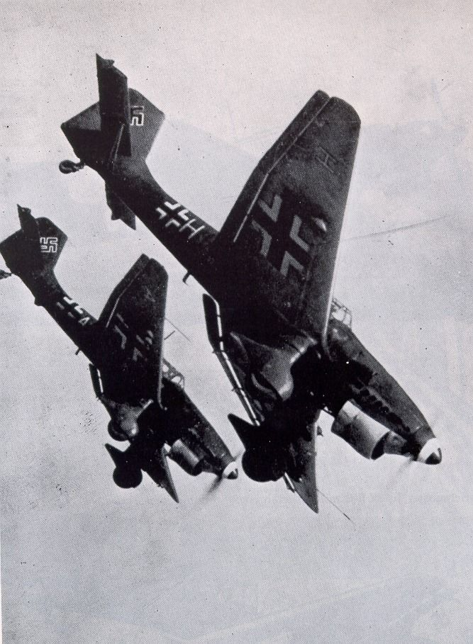Stukas from the Legion Condor, another German involvement in the Spanish Civil War.
