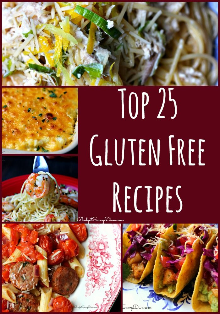 Top 25 Gluten Free Recipes - All these recipes have been tested and approved by thousands of home cooks :) Enjoy! #recipes #glutenfree #budgetsavvydiva via BudgetSavvyDiva.com