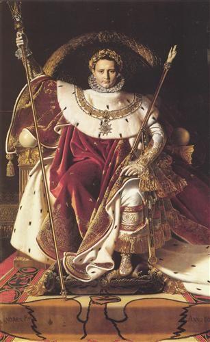 Ritratto di Napoleone sul Trono Imperiale, 1806, olio su tela, Musée de l'Armée, Parigi