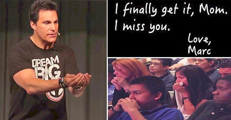 """""""Love Is Just a Word Without Meaning - You ARE The Meaning,"""" says Marc Mero during his inspirational speech about the important lesson learned from his Mom. His message hits home with these middle school students bringing them to tears reminding them no one cares for them quite like Mom does."""