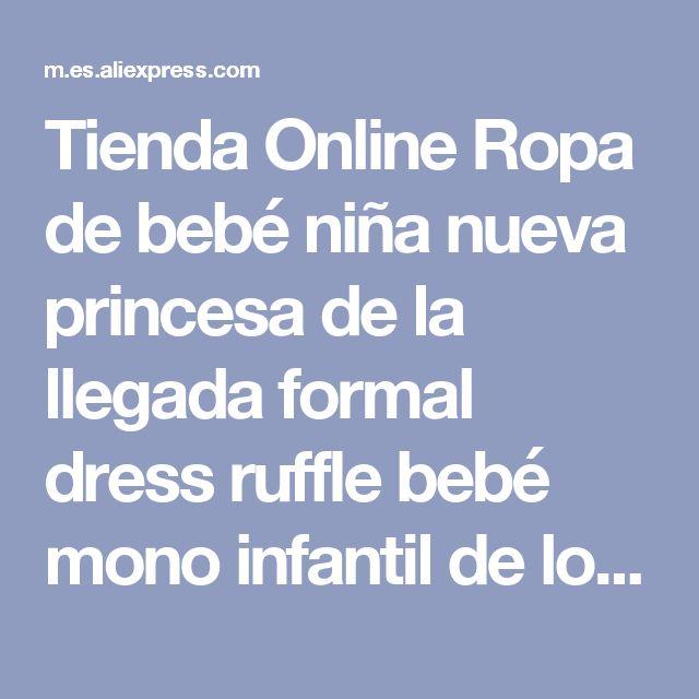 Tienda Online Ropa de bebé niña nueva princesa de la llegada formal dress ruffle bebé mono infantil de los mamelucos del cordón del recién nacido bebe traje | Aliexpress móvil