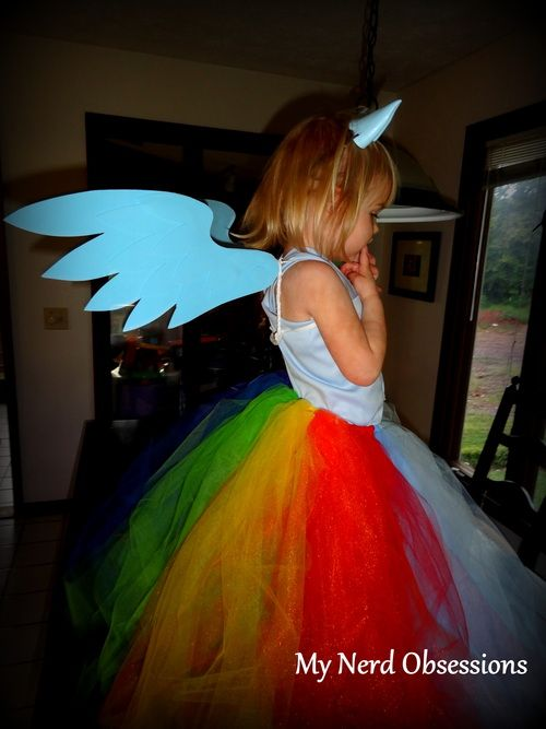 My+Little+Pony+Costume+DIY | Rainbow Dash Dress Tutorial! | mynerdobsessions