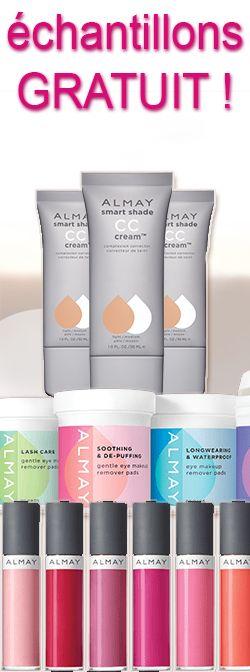 Échantillons produits Almay tous les jours.  http://rienquedugratuit.ca/produits-de-beaute/produits-almay-tous-les-jours/