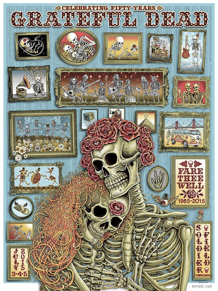 Grateful Dead #gigposter by #Emek.