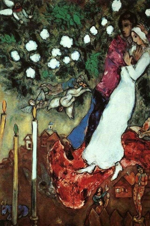 """Marc Chagall. """"The three candles"""" 1940"""