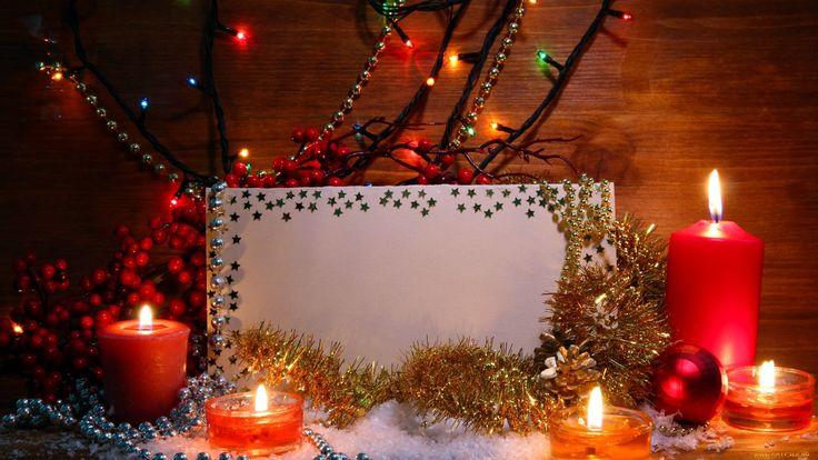 праздничные, новогодние, свечи, мишура, свечи, бумага, бусы