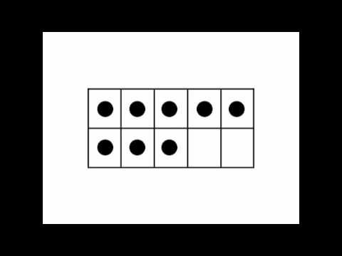 Ten Frame Flash Game (1-10) on youtube. We used to do this game with an overhead...my how times change!