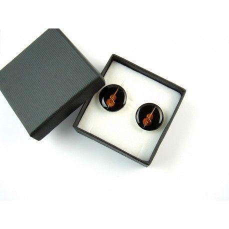 Clockwork contrabass cufflinks. http://polandhandmade.pl  #polandhandmade #clockwork #cogs #cufflinks #contrabass #tryb #jewelry