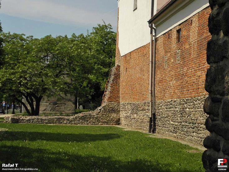 Zachowany fragment murów miejskich.