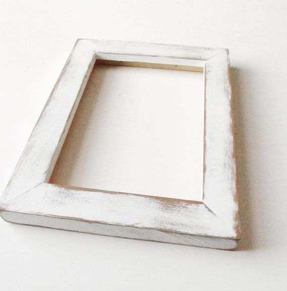 Distressed White Frame By Brushandpixel Etsy Beach Picture Coastal Decor Home Organization Pinterest Rustic Frames And