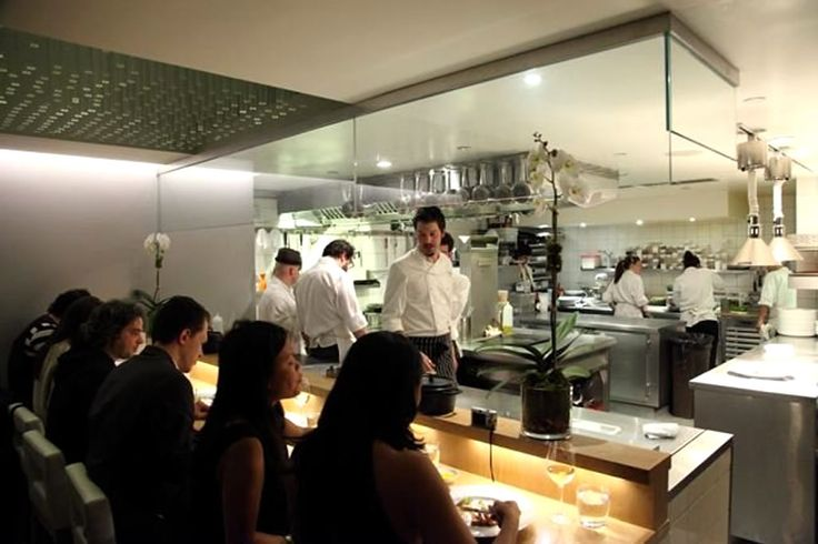 Pictures of professional open restaurant kitchens