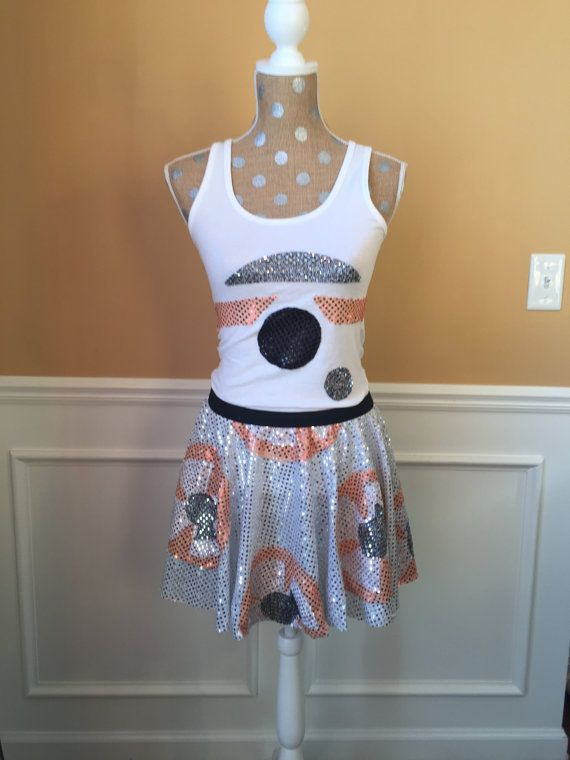 BB8Droid  Robot Inspired Running costume tank por Fit4aPrincessShop