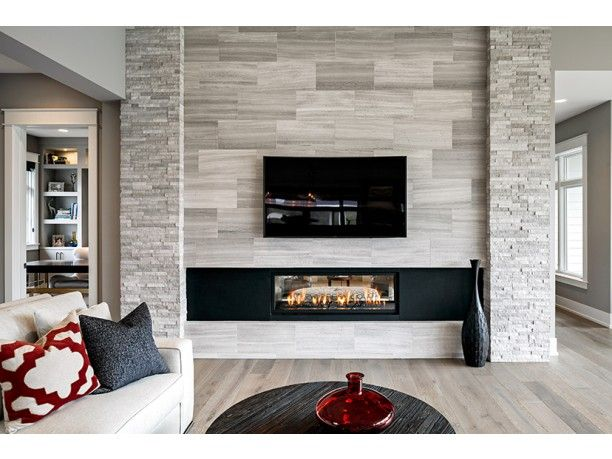 We love this modern fireplace! #dwell #design #modern #architecture #residence #house