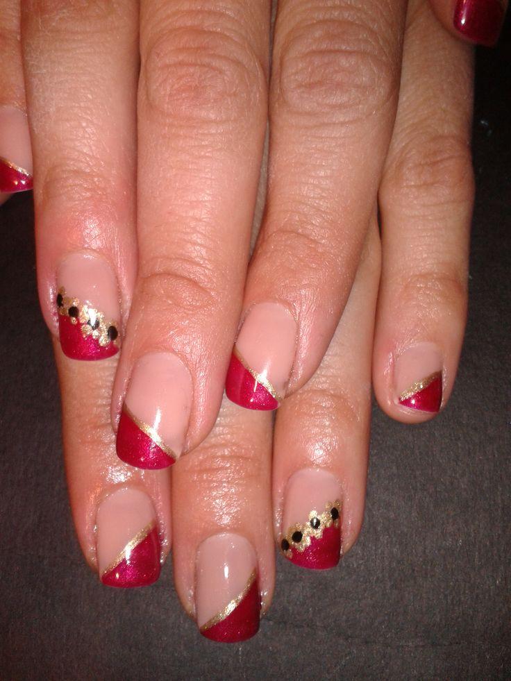 beautiful red shellac nails