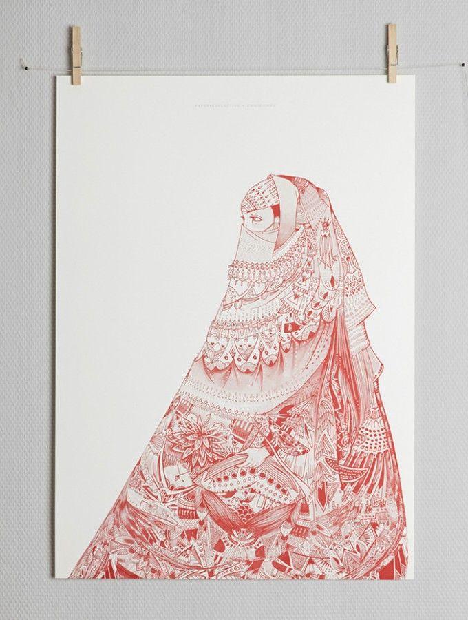 AL NIQAB AL HAMRA BY EMILIE IMÁN_Paper-Collective