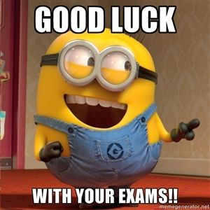 Good luck With your exams!! | dave le minion