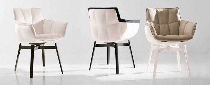 Nowoczesne krzesła Husk od Patrici Urquioli