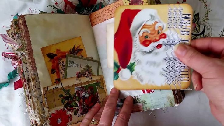VINTAGE CHRISTMAS JUNK JOURNAL - DT Project for Tsunami Rose for Septemb...