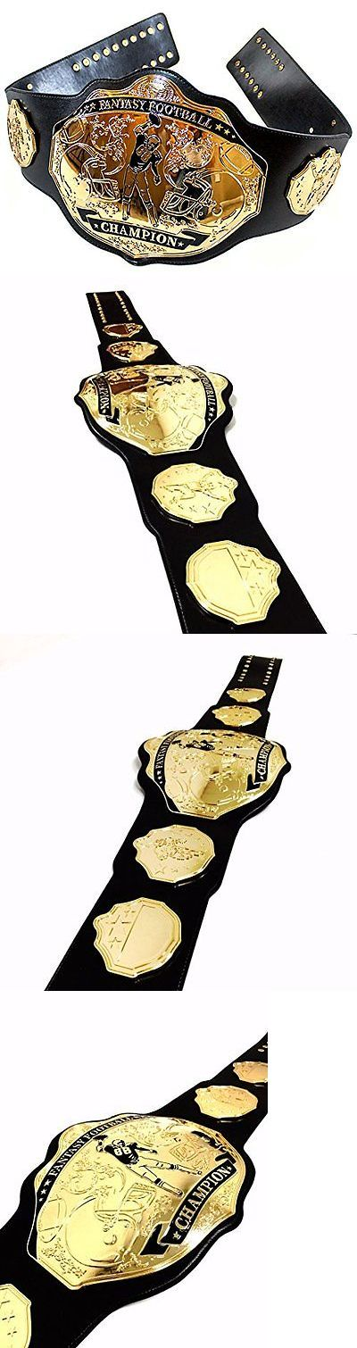 Other Football 2024: New Nfl Fantasy Football Championship Belt Trophy Award Prize (Black/Gold) -> BUY IT NOW ONLY: $216.57 on eBay!