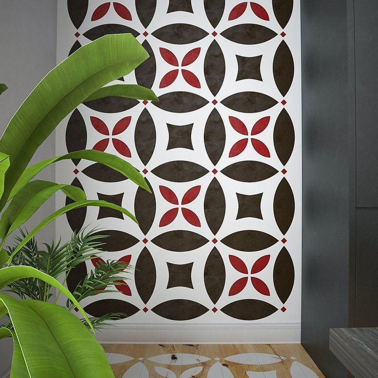 MOSAIC - Extra Large Wall Stencil- Large Pattern Stencil For Floor