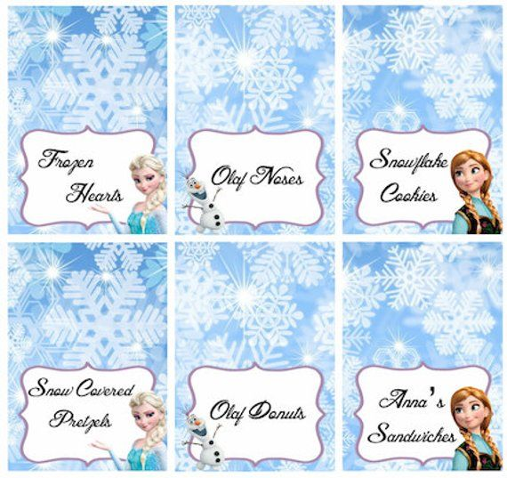photo about Frozen Party Food Labels Free Printable named Disney Frozen Meals Labels Placecards Tent Playing cards Desire Tags