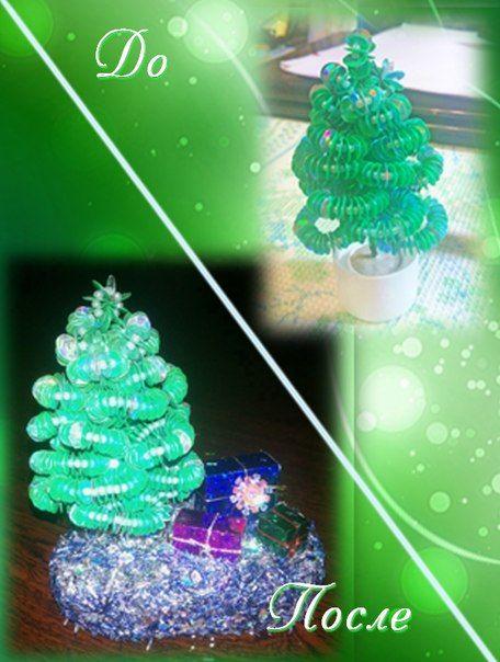 Елочка из бисера, пайеток + подарки под елку