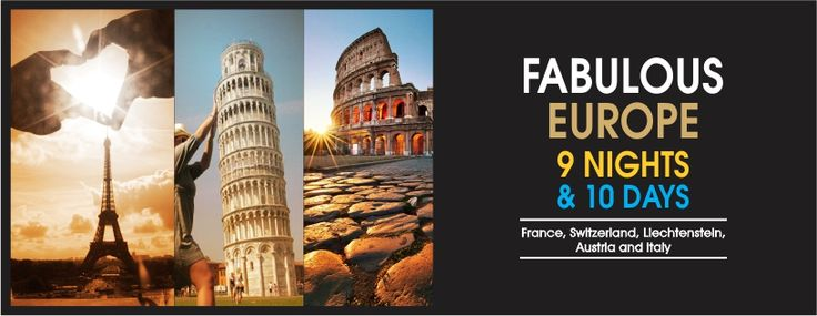 Planning a #vacation outside #India? To make your next #holiday a memorable one, take a holiday to #Europe with our package. Europe is undoubtedly an enchanting #tourist destination in the world, attracting people with its ancient structures as well as its modern ones. With this Europe holiday, you will get to visit the delightful countries of Europe like #France, #Switzerland, #Liechtenstein, #Austria and #Italy. http://flamingotoursntravel.com/