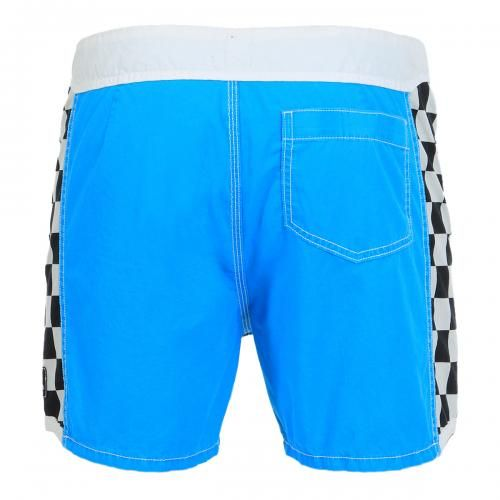 BOARDSHORTS WITH CHECK PRINT DETAILS - Boardshorts with side check printed details, fixed waist with snaps and Velcro fly, a Velcro back pocket.  #summer2014 #quiksilver #boardshort #men #SS14 #mrbeachwear