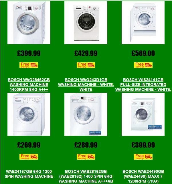 Bosch Washing Machines - Save Money ~ #washingmachines