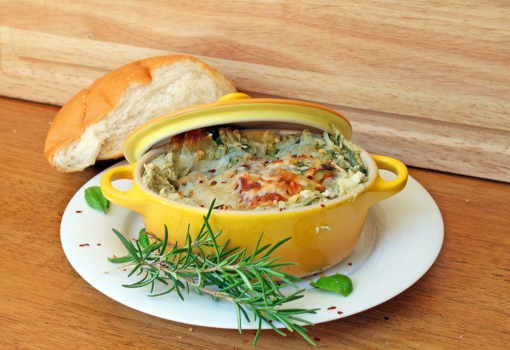 Three Cheese Spinach and Artichoke Chicken Lasagna {semi slow cooker!}