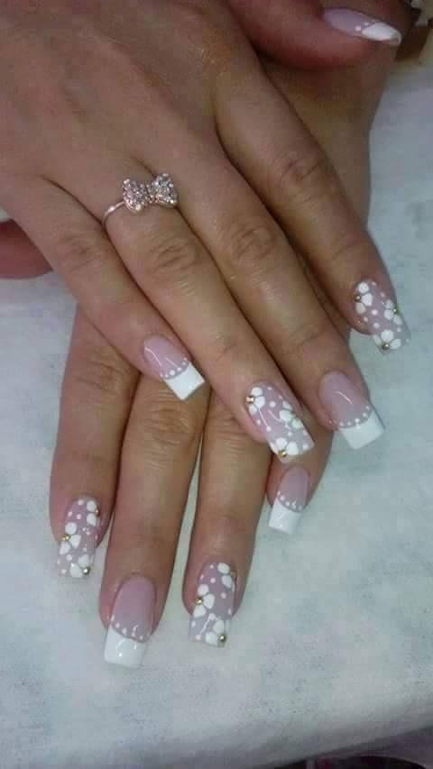 uñas delicadas #cute #nails