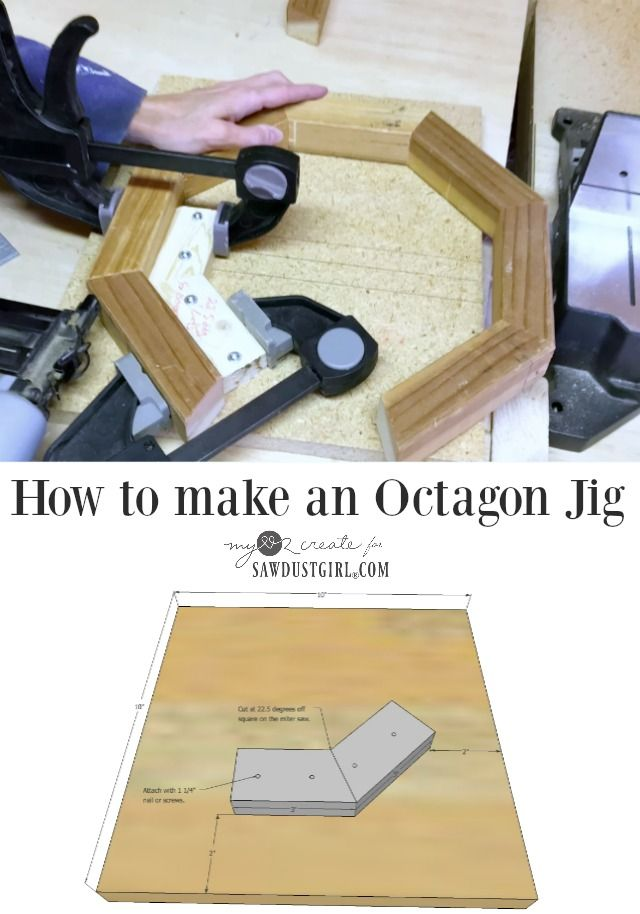 How to Make an Octagon Jig - Building Geometric Shapes - Sawdust Girl®
