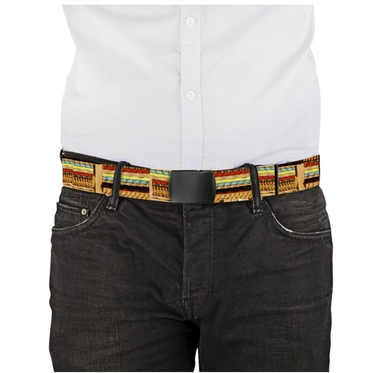 """""""Mattoncini""""  -Length 120 cm X 3.8 cm Choice of buckle: black or metal. The belts are printed on both sides.  www.waau.it"""