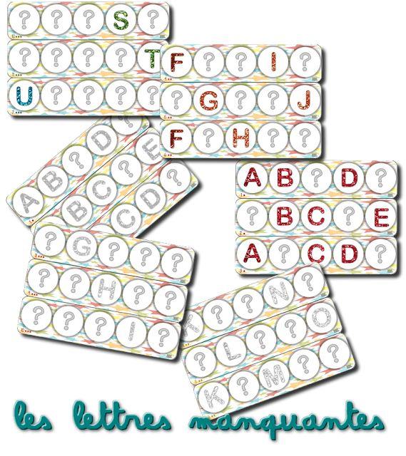 La maternelle de Laurène: Alphabet à compléter / reconstituer HEMA: