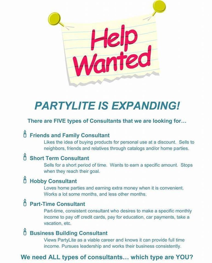 Help Wanted! Which Type of Consultant Are You? Start Making Money Right Away ~ Free Training... Join My Team! Www.partylite.biz/stephaniejoana
