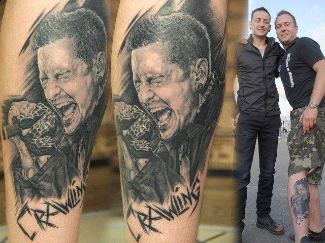 nice tattoo... Chester Bennington Linkin Park
