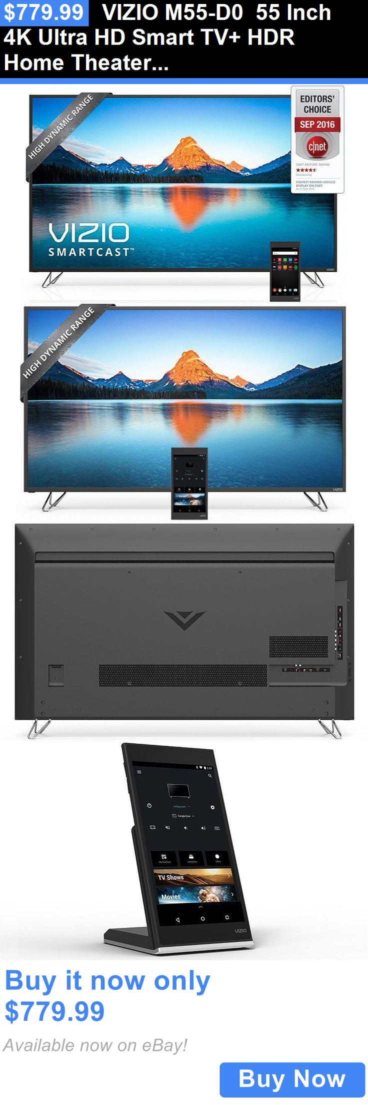 Smart TV: Vizio M55-D0 55 Inch 4K Ultra Hd Smart Tv+ Hdr Home Theater Display- Brand New! BUY IT NOW ONLY: $779.99