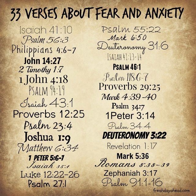 33 Verses about Fear and Anxiety to Remind Us: God is in Control | 104.1 The Fish - Portland, OR