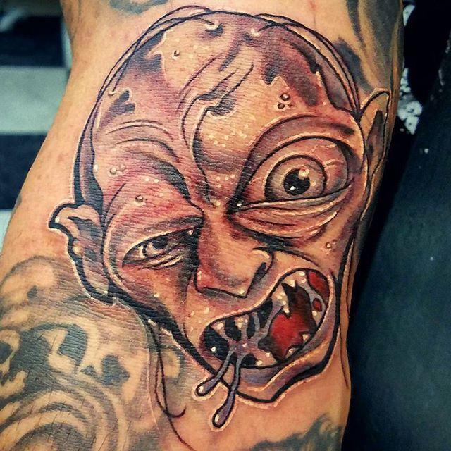 #stupidfathobbit #lordoftherings #gollum #precious #keithmillertattoo #newschooltattoo @empire_tattoo_boston #tattoo #bostontattoo www.empiretattooinc.com