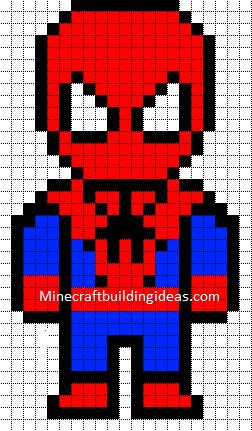 This blueprint will show you how to make The Amazing Spiderman in minecraft! I hope you can do it! :)
