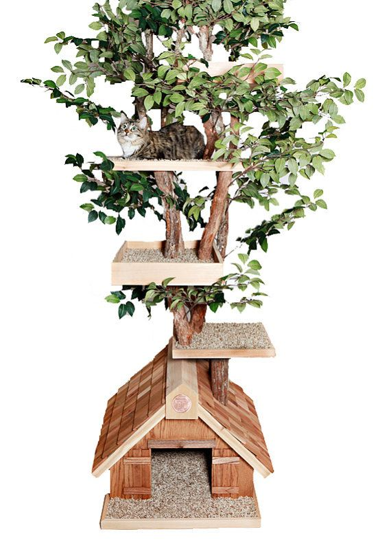 Cat Tree House...Love this, I want to make one for my kitties!